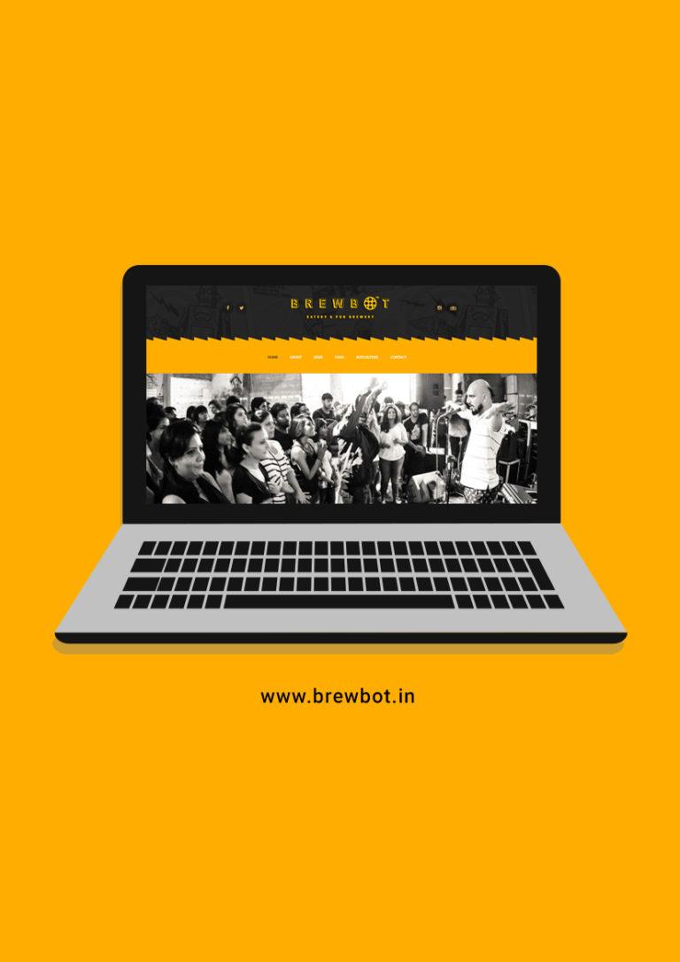 brewbot website - design