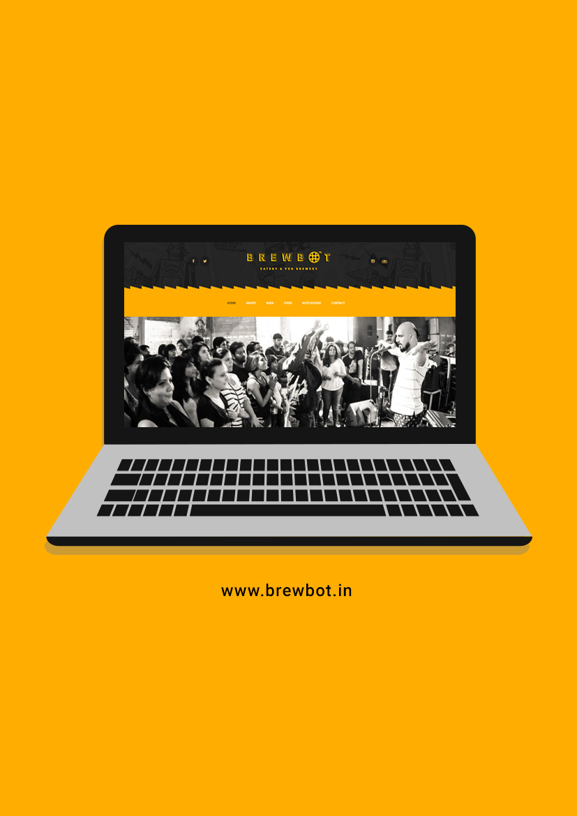 brewbot website - design